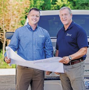 Drost Landscape's owner Bob Drost (right) and GM Dale Drier; Photo: Molly Hauxwell Currier