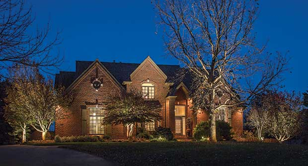 Aftershot of house with lighting (Photo: Mckay Landscape Lighting)