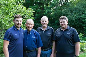 Three generations: Lively men (Photo: Blue Jay Sprinkler Systems)