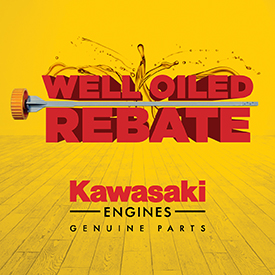 Well Oiled Rebate. Image provided by Kawasaki Engines.