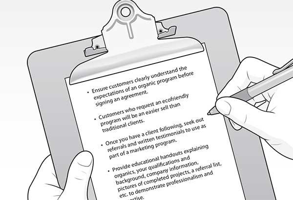 Step-2: Offering organic lawn care (illustrations: David Preiss)