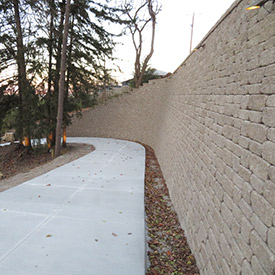 VERSA-LOK Mosaic retaining wall. Photo provided by VERSA-LOK