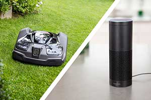 Husqvarna Automower and Amazon Alexa (Photo: Husqvarna)
