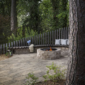 Weston Stone Fire Pit Kit. Photo: Belgard