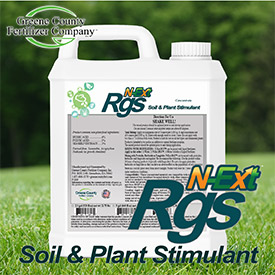 N-Ext RGS™ Soil & Plant Stimulant. Photo: Greene County Fertilizer Company