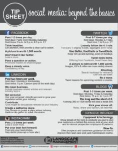 Landscape Management Social Media Tip Sheet (Credit: North Coast Media)