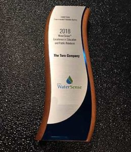 2018 WaterSense Award (Photo: Toro)
