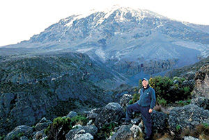 Aaron Katerberg on Mount Kilimanjaro (Photo: Aaron Katerberg)