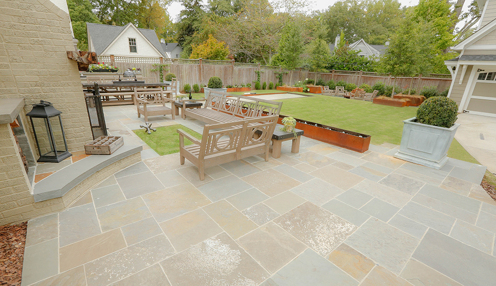 Three outdoor rooms (Photo: Dry Branch Photography)