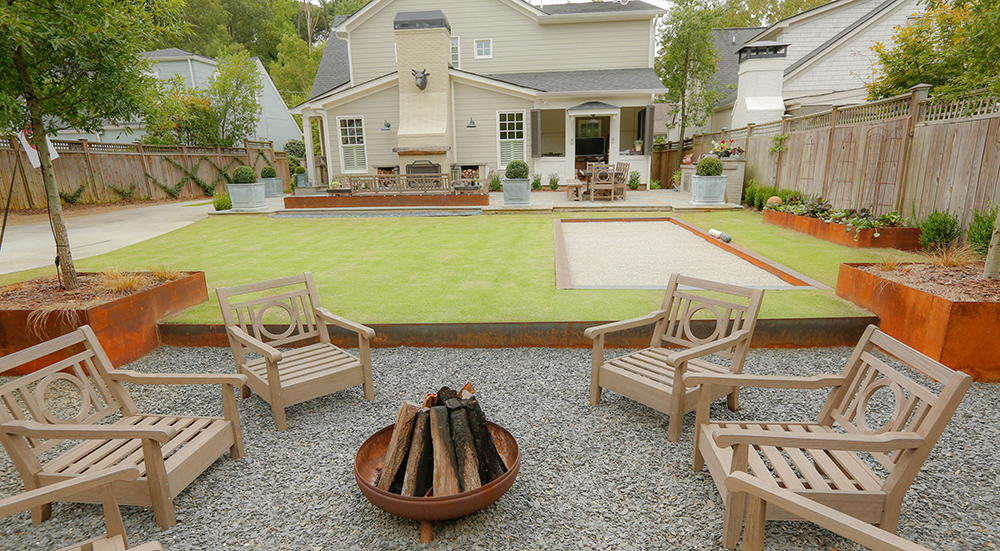 Three elements of backyard (Photo: Dry Branch Photography)