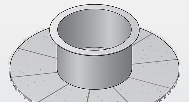 Steel ring of fire pit (illustration: David Preiss)