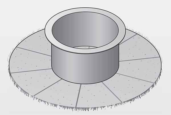 Steel ring of fire pit illustration (illustration: David Preiss)