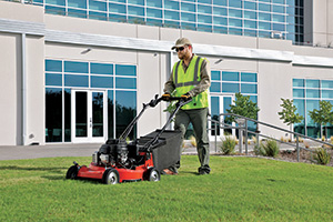 Contractor using Kubota walk-behind (Photo: Kubota)