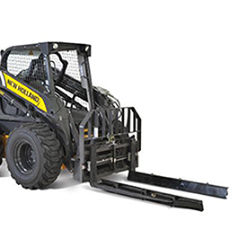 New Holland: Hydraulic pallet forks with nursery sleeves