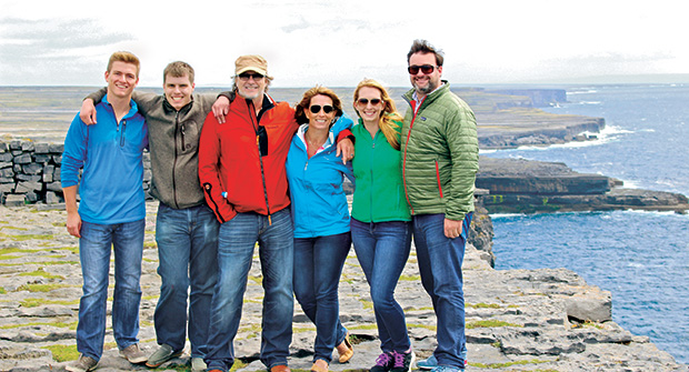Troy Clogg and family in Galway (Photo: Troy Clogg)