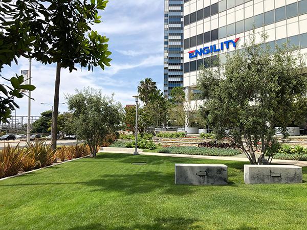 Mini park outside PCT headquarters (Photo: LandCare)