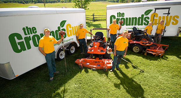 The Grounds Guys crew and equipment (Photo: The Grounds Guys)