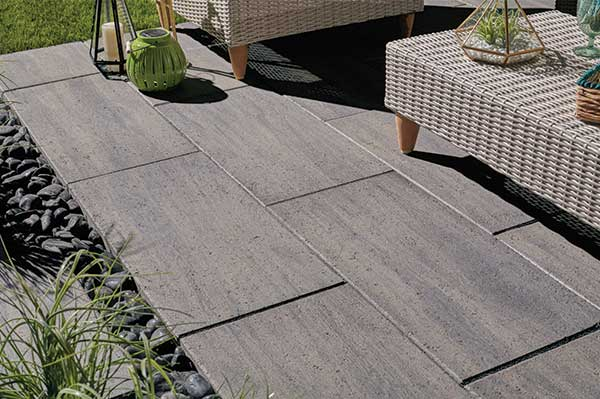 Madria slab pavers feature a look of natural wood. Photo courtesy of Belgard.