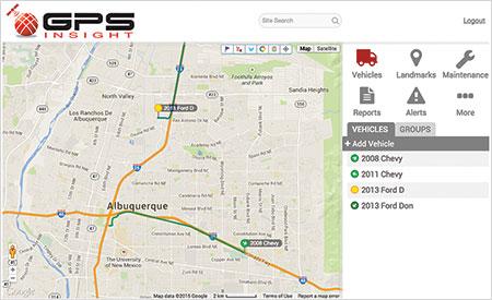 GPS Insight route (Photo: GPS Insight)