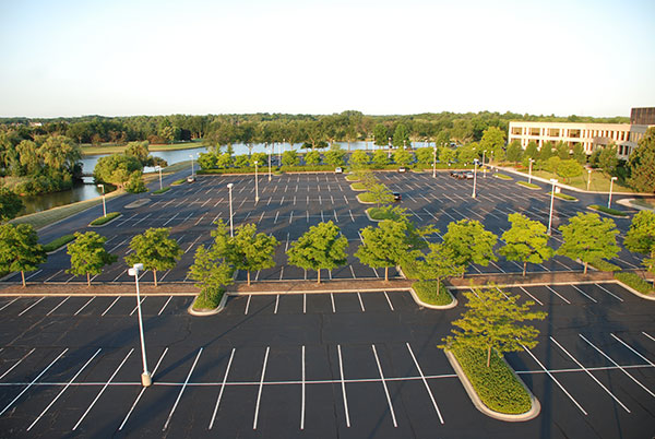 Large parking lot at Kemper Lakes facility (Photo: Gayle Kruckenburg and Bryland Photography)