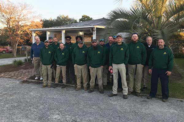 The crew from Bayou Lawn & Landscape Services. The company has been acquired by Landscape Workshop. Photo: Landscape Workshop