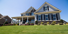 Home with lawn treated with Dimension. Photo: Corteva Agriscience™, Agriculture Division of DowDuPont