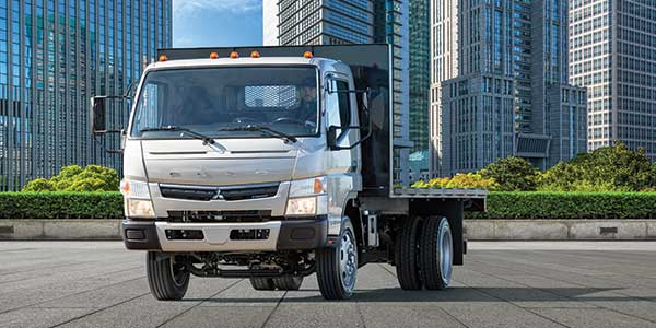Fuso introduced a new gasoline-powered cabover at the Work Truck Show. Photo: Mitsubishi Fuso Truck of America