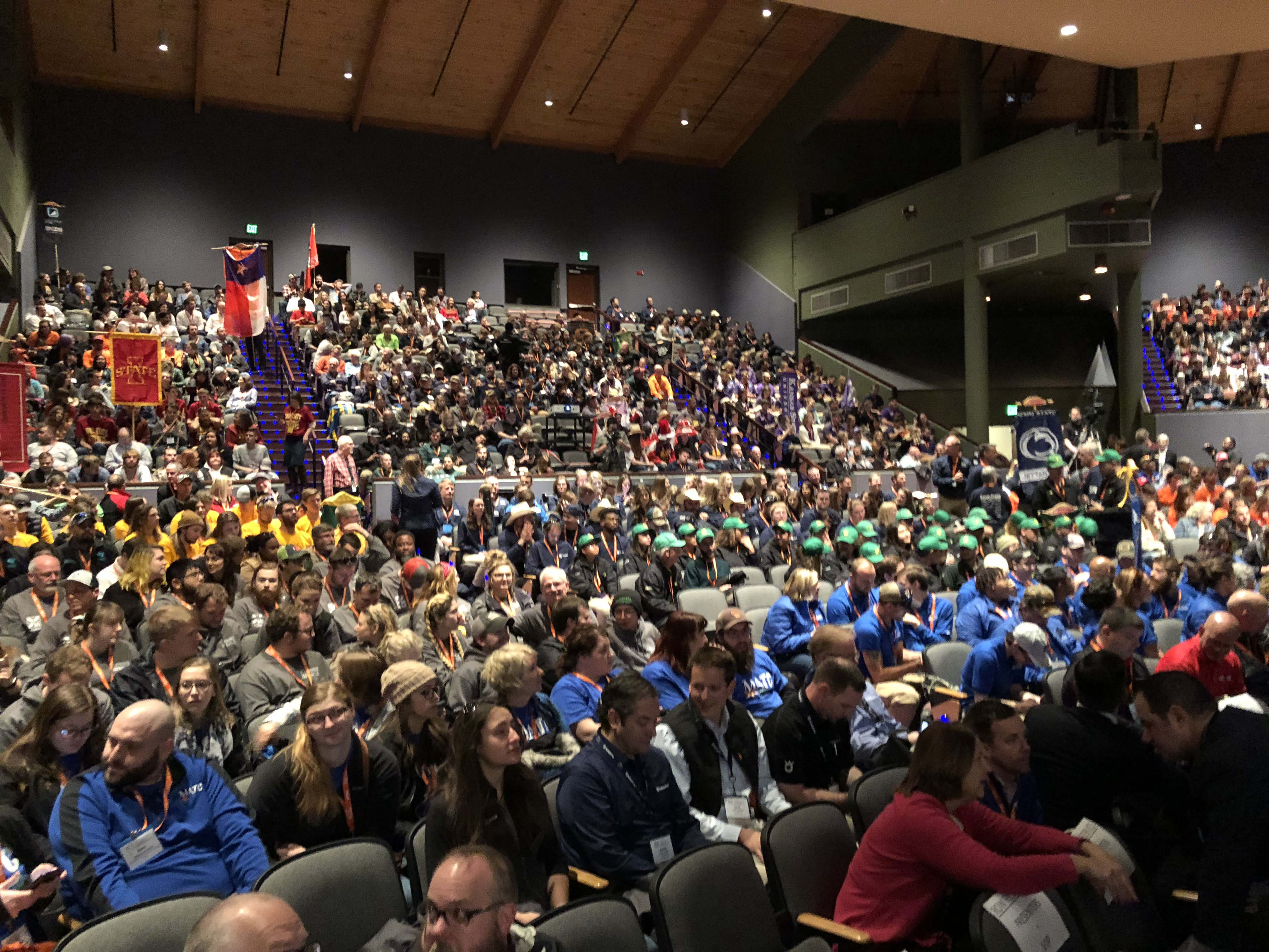 A packed house at the opening ceremony of NCLC. It was held at the Lincoln Center on Colorado State University's campus. (Photo: Seth Jones)
