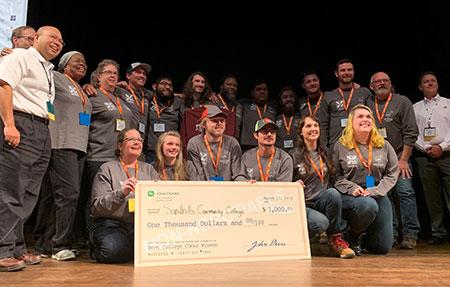 Sand Hills Community College team, winners of the Best Cheer Award. (Photo: John Deere)