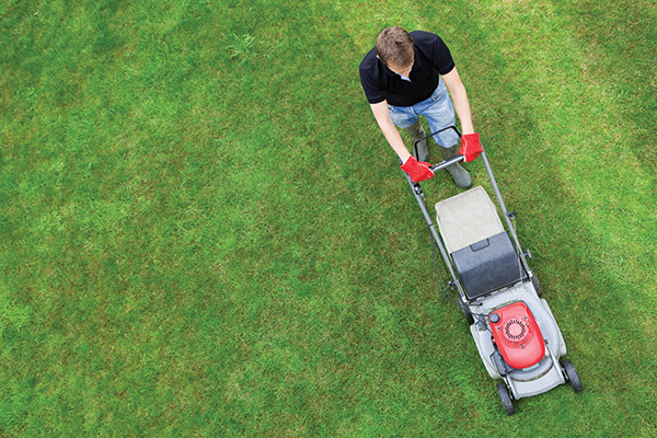Striping with a walk-behind (Photo: iStock.com/Nastco)