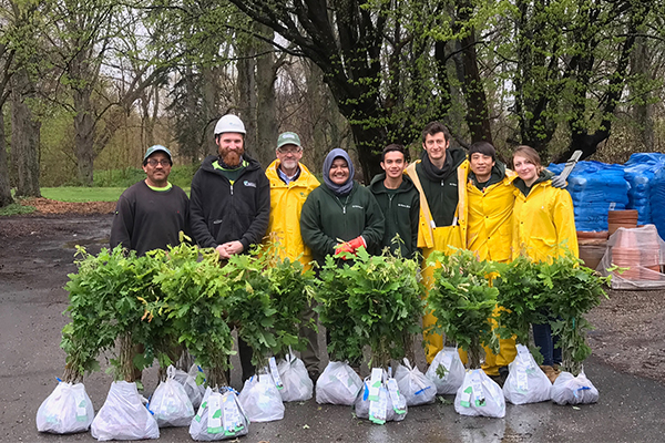 Each year Bartlett Tree Experts distributes seedlings in honor of Arbor Day. Photo: Bartlett Tree Experts