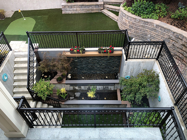 Basement courtyard (Photo: MRD Landscaping)