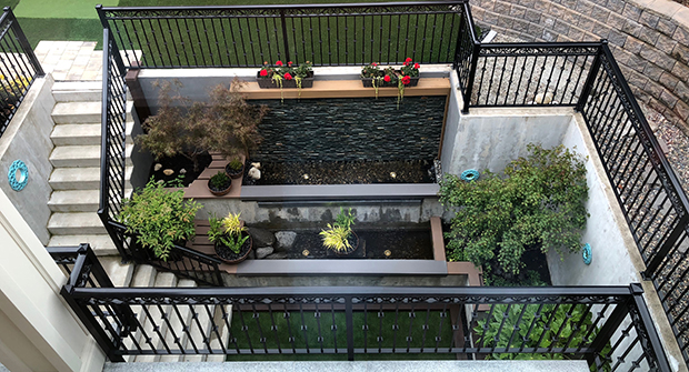 Basement courtyard (Photo: MRD Landscaping)