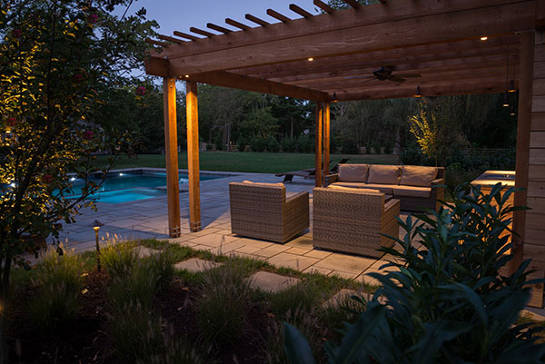 Pergola at night (Photo: Ledden Palimeno Landscape Co.)
