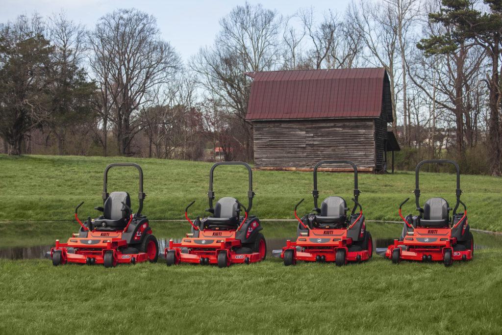 The new line of Kioti zero-turn mowers. (Photo: Kioti)
