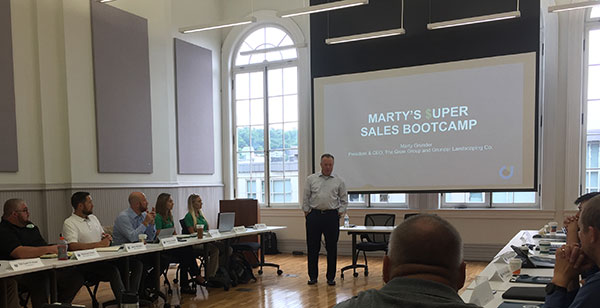 Marty Grunder welcomes attendees to Marty's Super Sales Bootcamp. (Photo: LM Staff)