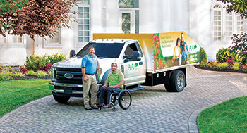 A&A Lawn Care and Landscaping Co-owners Tony Kelly (left) and Andrew Wesselman. (Photo: Broadview Motion)