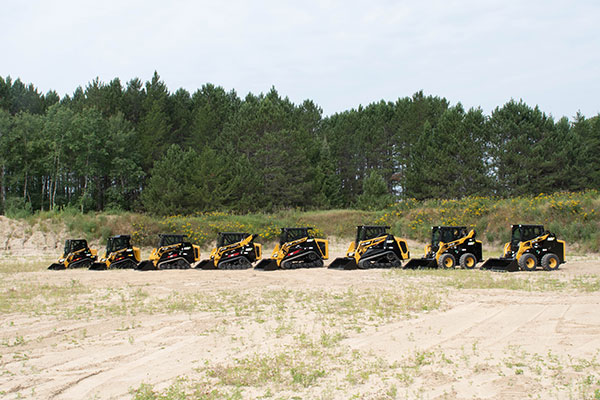 ASV's full line of compact track loaders. (Photo: ASV Holdings)