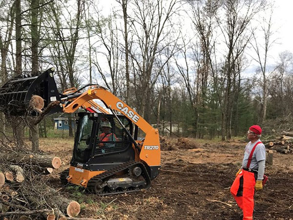 A piece of Case equipment helps in land-clearing project. (Photo: Case Construction Equipment)