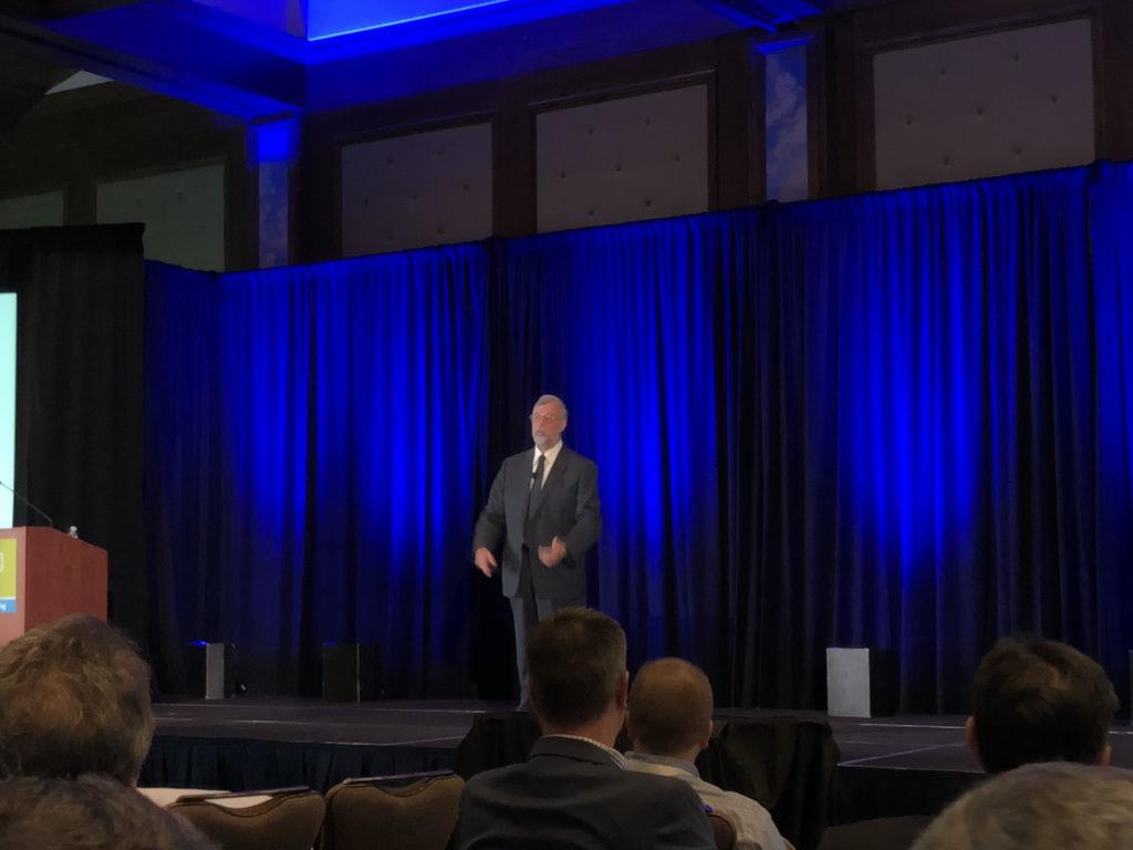 Dr. Alan Beaulieu speaks at the 2019 OPEI annual meeting in Park City, Utah. (Photo: Seth Jones)