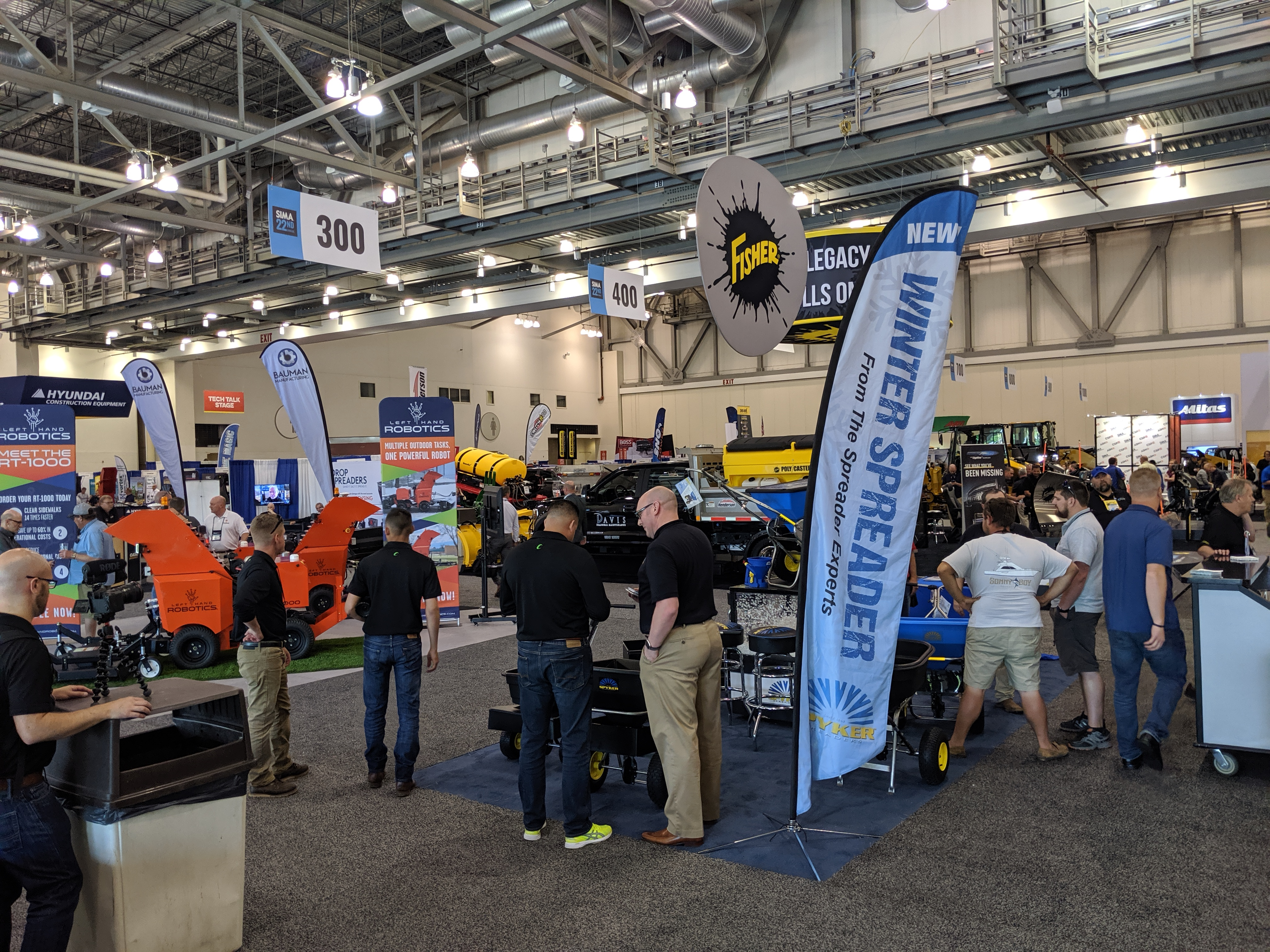 Hustle and bustle on the snow floor at SIMA 2019. Photo: LM Staff