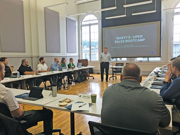 Marty Grunder at sales bootcamp (Photo: Sarah Webb)