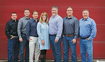 The Todd's Services leadership team. From left to right, Jeff Walz, Doug Murphy, Josh Robinson, Sherry LaButte-Birk, Kurt LaButte, Mark Becker and Kevin Birk. (Photo: Todd's Services)