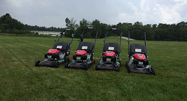 HRN216 Series mower lineup. (Photo: LM Staff)
