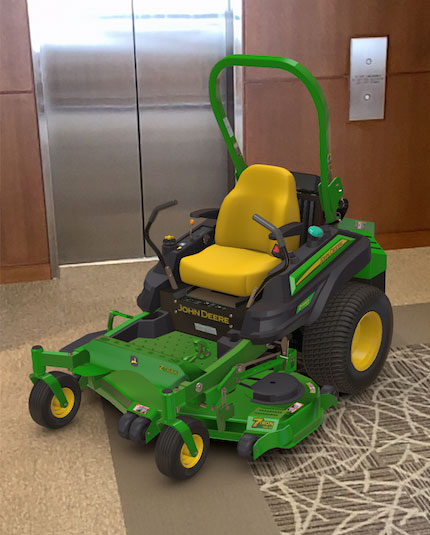 John Deere augmented reality mower (Photo: John Deere)