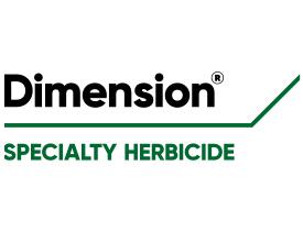 Dimension specialty herbicide (Logo: Corteva Agriscience)