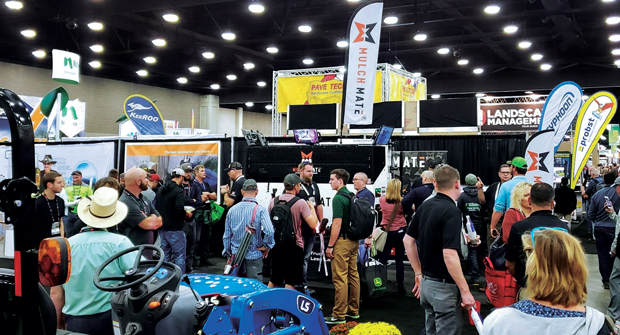 CONNECT GIE+EXPO provides landscape pros, distributors and dealers a chance to network. (Photo: Mulch Mate)