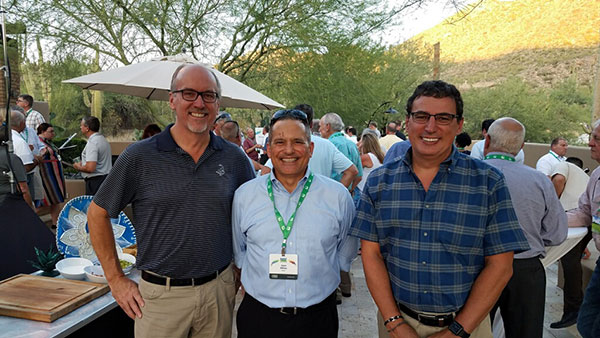 Left to right: Will MacMurdo, Jose Milan and Gilles Galliou from Bayer. (Photo: North Coast Media Staff)