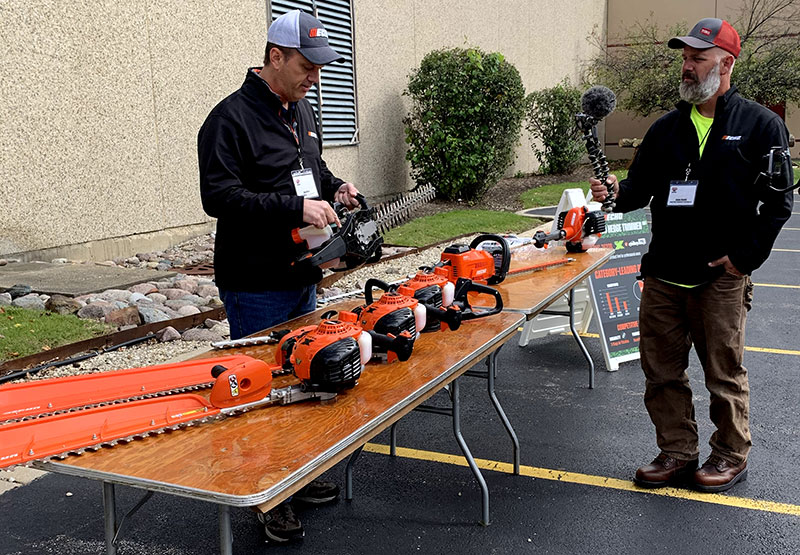 Echo media day hedge trimmers