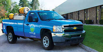 Lush Lawn truck (Photo: Aaron Samson)